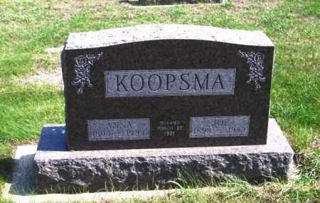 KOOPSMA, ANNA - Lincoln County, South Dakota | ANNA KOOPSMA - South Dakota Gravestone Photos