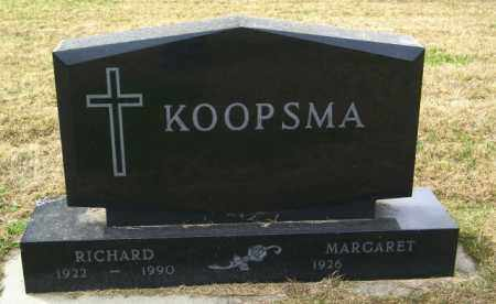 KOOPSMA, RICHARD - Lincoln County, South Dakota | RICHARD KOOPSMA - South Dakota Gravestone Photos