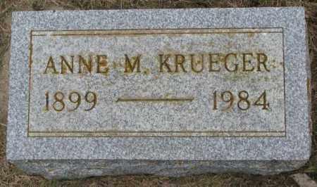 KRUEGER, ANNE M. - Lincoln County, South Dakota | ANNE M. KRUEGER - South Dakota Gravestone Photos
