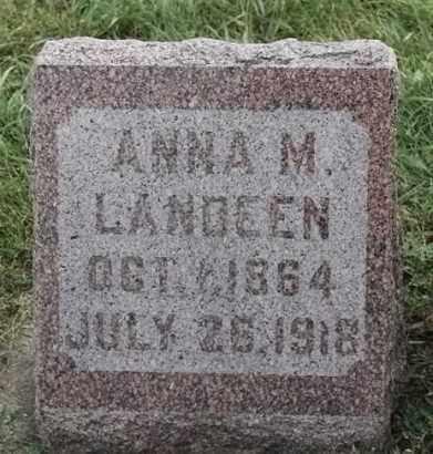 LANDEEN, ANNA M - Lincoln County, South Dakota   ANNA M LANDEEN - South Dakota Gravestone Photos