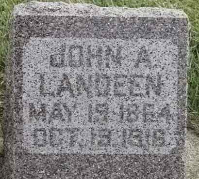 LANDEEN, JOHN A - Lincoln County, South Dakota | JOHN A LANDEEN - South Dakota Gravestone Photos