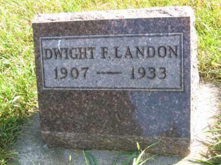 LANDON, DWIGHT F - Lincoln County, South Dakota | DWIGHT F LANDON - South Dakota Gravestone Photos