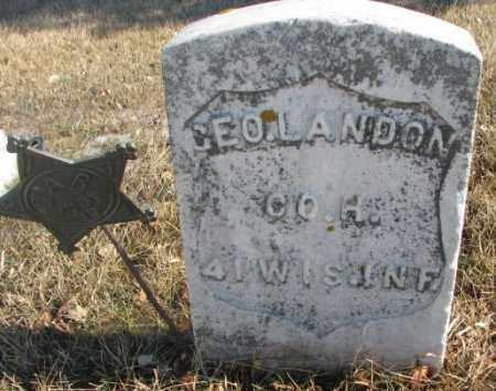 LANDON, GEORGE - Lincoln County, South Dakota | GEORGE LANDON - South Dakota Gravestone Photos