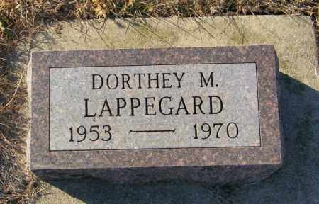 LAPPEGARD, DORTHEY M - Lincoln County, South Dakota | DORTHEY M LAPPEGARD - South Dakota Gravestone Photos