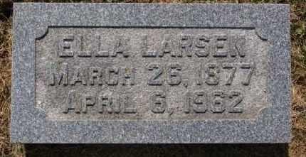 LARSEN, ELLA - Lincoln County, South Dakota   ELLA LARSEN - South Dakota Gravestone Photos
