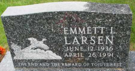 LARSEN, EMMETT L. - Lincoln County, South Dakota   EMMETT L. LARSEN - South Dakota Gravestone Photos