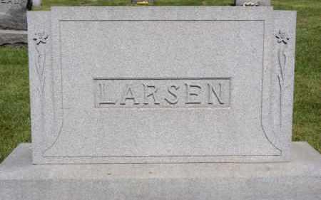 LARSEN, FAMILY PLOT MARKER - Lincoln County, South Dakota | FAMILY PLOT MARKER LARSEN - South Dakota Gravestone Photos