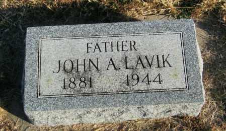 LAVIK, JOHN A - Lincoln County, South Dakota | JOHN A LAVIK - South Dakota Gravestone Photos