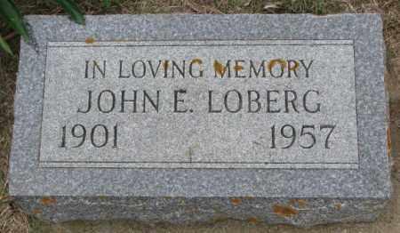 LOBERG, JOHN E. - Lincoln County, South Dakota   JOHN E. LOBERG - South Dakota Gravestone Photos