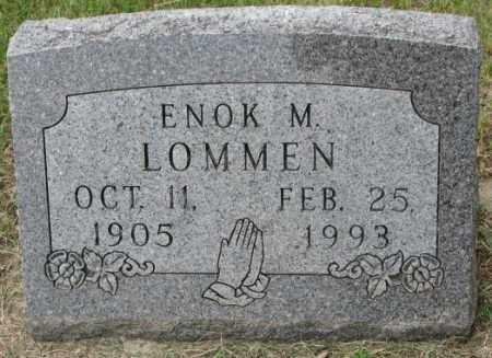 LOMMEN, ENOK M. - Lincoln County, South Dakota   ENOK M. LOMMEN - South Dakota Gravestone Photos