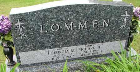 LOMMEN, GEORGIA M. - Lincoln County, South Dakota | GEORGIA M. LOMMEN - South Dakota Gravestone Photos