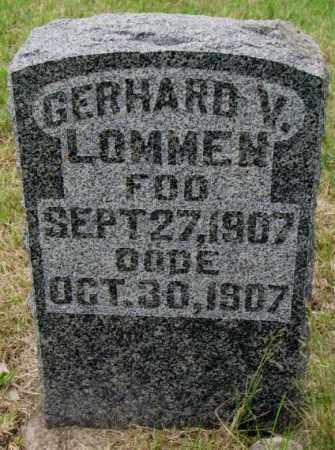LOMMEN, GERHARD V. - Lincoln County, South Dakota   GERHARD V. LOMMEN - South Dakota Gravestone Photos