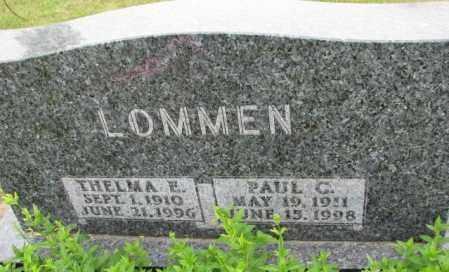 LOMMEN, PAUL C. - Lincoln County, South Dakota | PAUL C. LOMMEN - South Dakota Gravestone Photos
