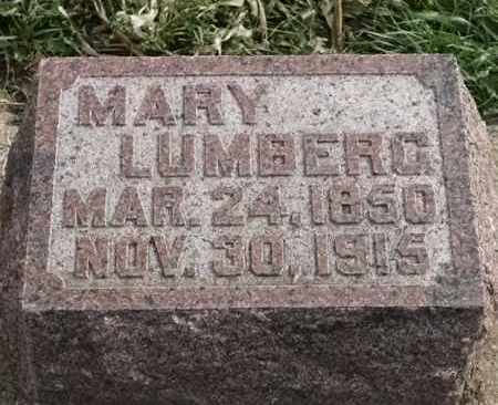LUMBERG, MARY - Lincoln County, South Dakota | MARY LUMBERG - South Dakota Gravestone Photos