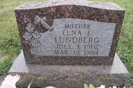 LUNDBERG, ELNA E - Lincoln County, South Dakota | ELNA E LUNDBERG - South Dakota Gravestone Photos