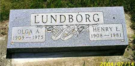 HANSEN LUNDBORG, OLGA A. - Lincoln County, South Dakota | OLGA A. HANSEN LUNDBORG - South Dakota Gravestone Photos