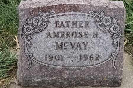 MCVAY, AMBROSE H - Lincoln County, South Dakota | AMBROSE H MCVAY - South Dakota Gravestone Photos