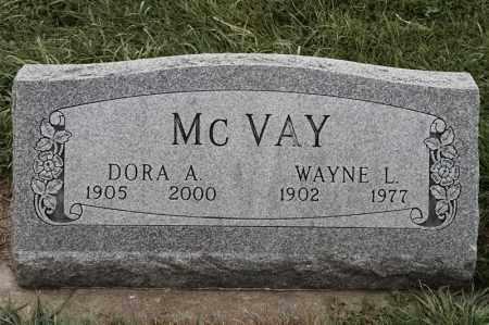 MCVAY, DORA A - Lincoln County, South Dakota | DORA A MCVAY - South Dakota Gravestone Photos