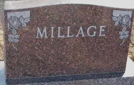 MILLAGE, PLOT MARKER - Lincoln County, South Dakota | PLOT MARKER MILLAGE - South Dakota Gravestone Photos