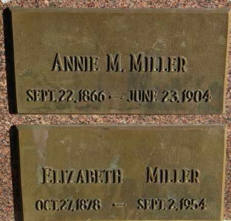 MILLER, ELIZABETH - Lincoln County, South Dakota | ELIZABETH MILLER - South Dakota Gravestone Photos