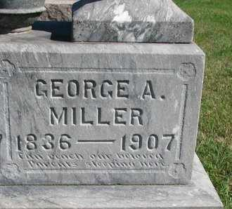 MILLER, GEORGE A. (CLOSE UP) - Lincoln County, South Dakota | GEORGE A. (CLOSE UP) MILLER - South Dakota Gravestone Photos