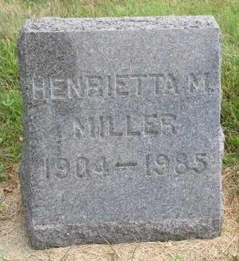 MILLER, HENRIETTA M. - Lincoln County, South Dakota | HENRIETTA M. MILLER - South Dakota Gravestone Photos