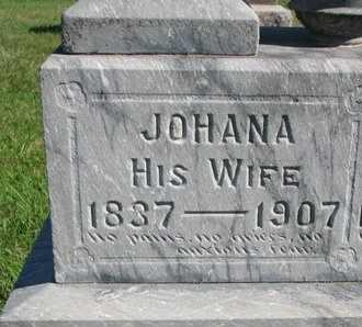MILLER, JOHANA (CLOSE UP) - Lincoln County, South Dakota | JOHANA (CLOSE UP) MILLER - South Dakota Gravestone Photos