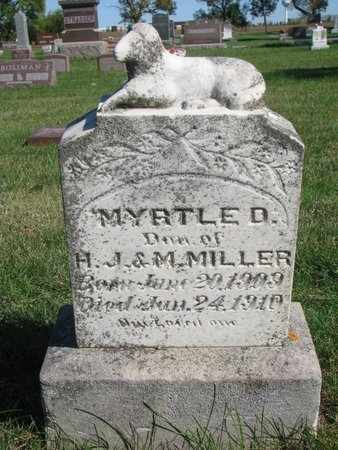 MILLER, MYRTLE D. - Lincoln County, South Dakota | MYRTLE D. MILLER - South Dakota Gravestone Photos