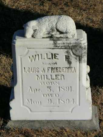 MILLER, WILLIE F - Lincoln County, South Dakota | WILLIE F MILLER - South Dakota Gravestone Photos
