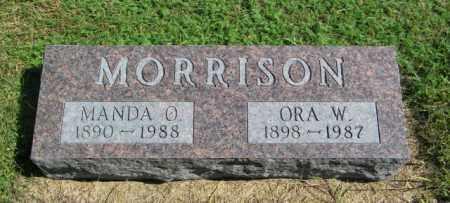 MORRISON, MANDA O - Lincoln County, South Dakota | MANDA O MORRISON - South Dakota Gravestone Photos