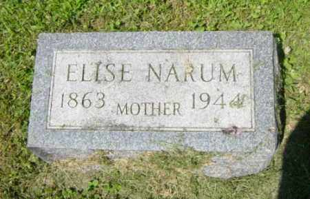 NARUM, ELISE - Lincoln County, South Dakota | ELISE NARUM - South Dakota Gravestone Photos