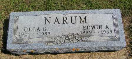 NARUM, EDWIN A - Lincoln County, South Dakota | EDWIN A NARUM - South Dakota Gravestone Photos