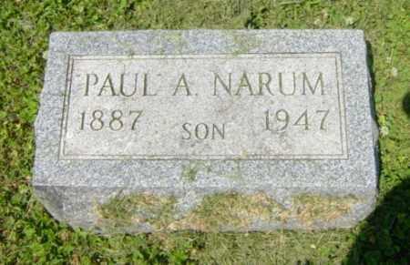 NARUM, PAUL A - Lincoln County, South Dakota   PAUL A NARUM - South Dakota Gravestone Photos