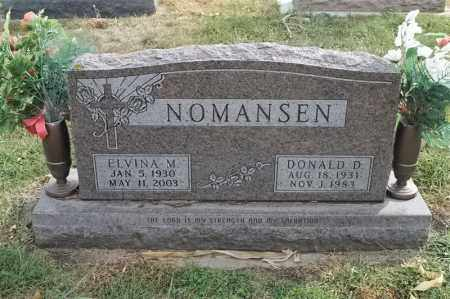 NOMANSEN, DONALD D - Lincoln County, South Dakota | DONALD D NOMANSEN - South Dakota Gravestone Photos