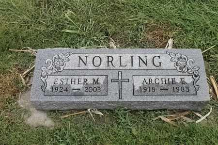 NORLING, ARCHIE E - Lincoln County, South Dakota | ARCHIE E NORLING - South Dakota Gravestone Photos