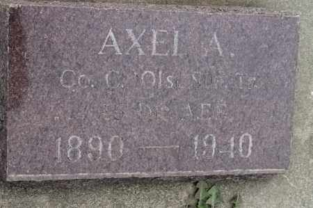 NORMAN, AXEL A - Lincoln County, South Dakota   AXEL A NORMAN - South Dakota Gravestone Photos