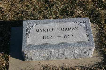 NORMAN, MYRTLE - Lincoln County, South Dakota | MYRTLE NORMAN - South Dakota Gravestone Photos