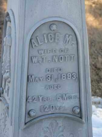 NOTT, ALICE M. - Lincoln County, South Dakota | ALICE M. NOTT - South Dakota Gravestone Photos