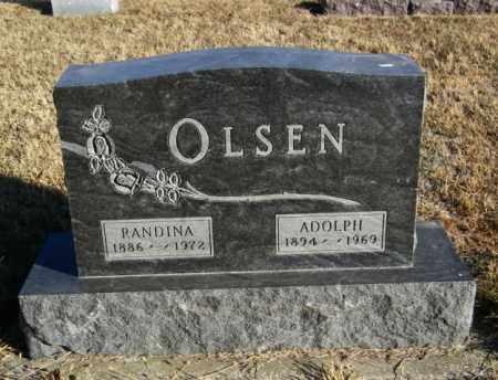 OLSEN, ADOLPH - Lincoln County, South Dakota   ADOLPH OLSEN - South Dakota Gravestone Photos
