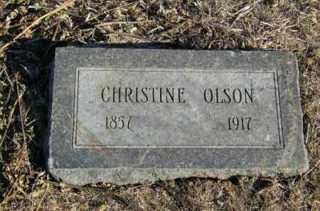 OLSON, CHRISTINE - Lincoln County, South Dakota | CHRISTINE OLSON - South Dakota Gravestone Photos