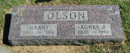 OLSON, AGNES J. - Lincoln County, South Dakota | AGNES J. OLSON - South Dakota Gravestone Photos