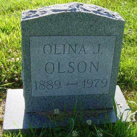 OLSON, OLINA J - Lincoln County, South Dakota | OLINA J OLSON - South Dakota Gravestone Photos
