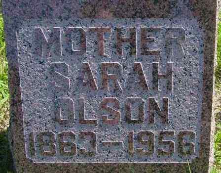OLSON, SARAH - Lincoln County, South Dakota | SARAH OLSON - South Dakota Gravestone Photos