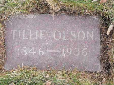OLSON, TILLIE - Lincoln County, South Dakota | TILLIE OLSON - South Dakota Gravestone Photos
