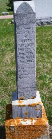 PAULSEN, MAREN - Lincoln County, South Dakota | MAREN PAULSEN - South Dakota Gravestone Photos