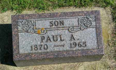 PAULSEN, PAUL A - Lincoln County, South Dakota | PAUL A PAULSEN - South Dakota Gravestone Photos