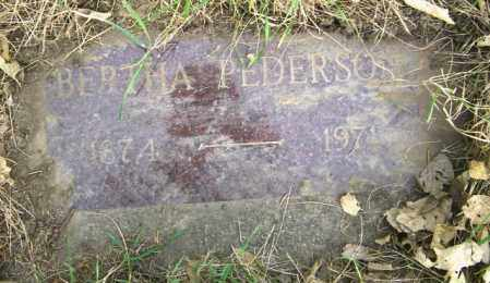 PEDERSON, BERTHA - Lincoln County, South Dakota | BERTHA PEDERSON - South Dakota Gravestone Photos