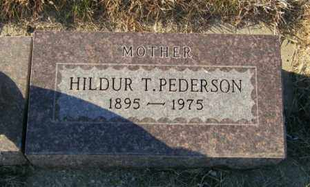 PEDERSON, HILDUR T - Lincoln County, South Dakota | HILDUR T PEDERSON - South Dakota Gravestone Photos