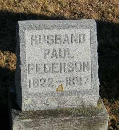 PEDERSON, PAUL - Lincoln County, South Dakota | PAUL PEDERSON - South Dakota Gravestone Photos