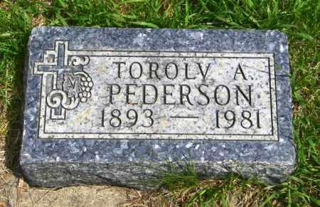 PEDERSON, TOROLV A - Lincoln County, South Dakota | TOROLV A PEDERSON - South Dakota Gravestone Photos